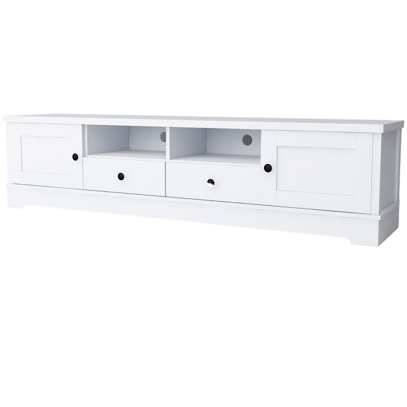 Margaux White Coastal Style 180cm Entertainment Unit