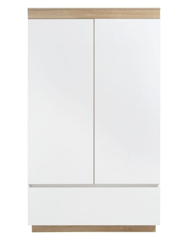 Aiden Industrial Contemporary White Oak Wardrobe