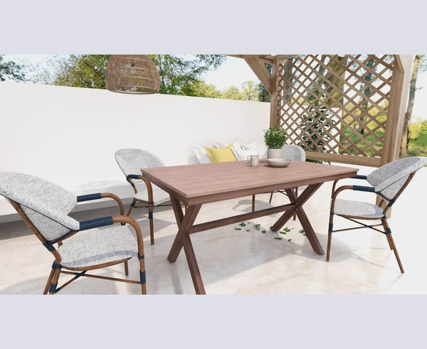 Loki Dark Oak Outdoor Dining Table 150cm