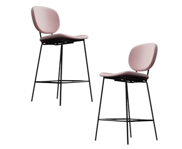 Murray Emerald Velvet Barstool Set of 2