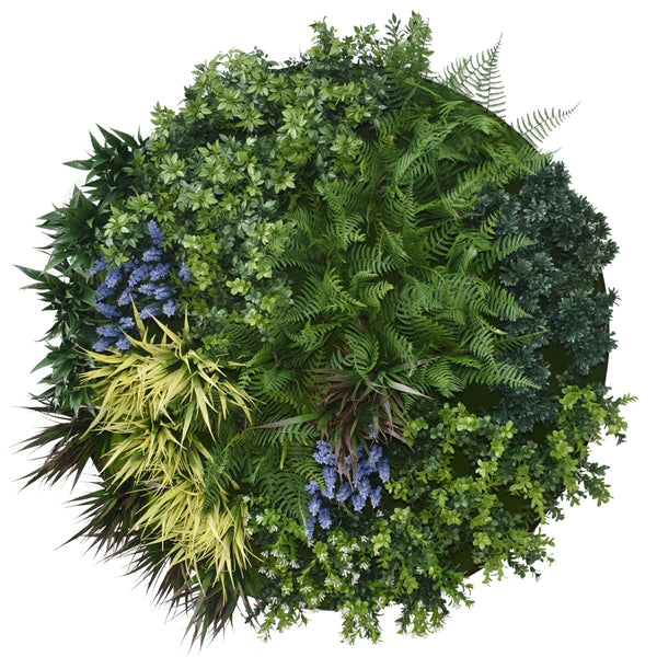 UV Lavender Fields Green Wall Disc (White) 80cm