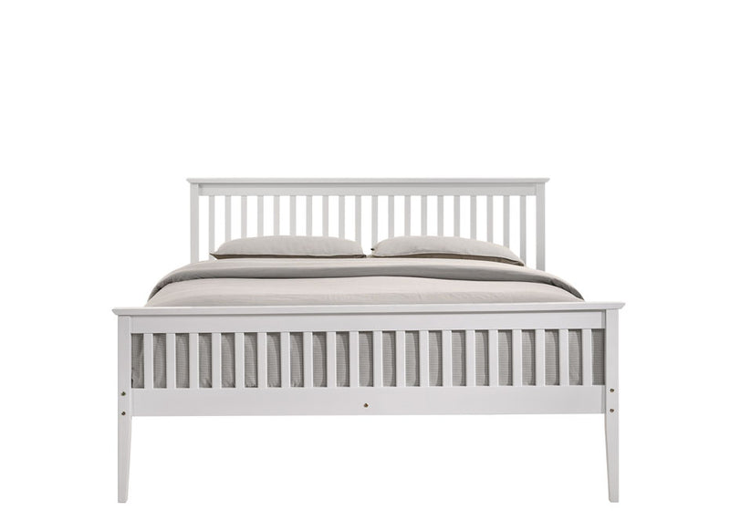 Wooden Bed Frame White - Queen