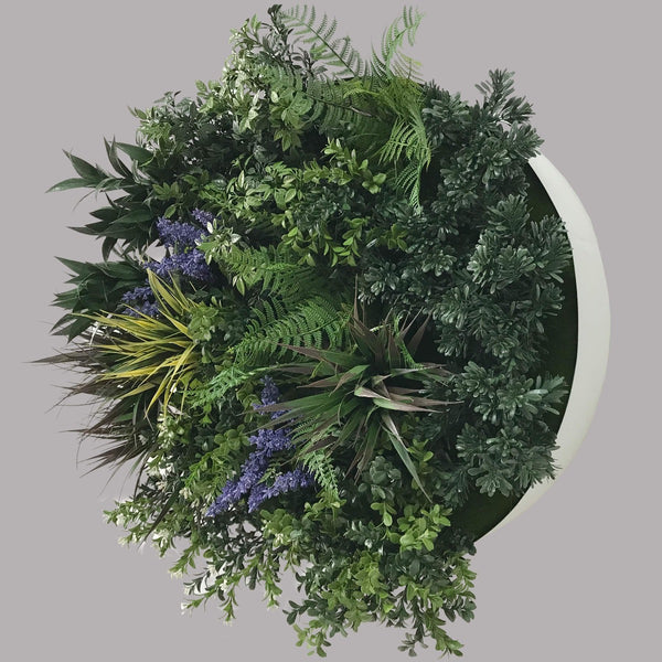 UV Lavender Fields 60cm Green Wall Disc (White)