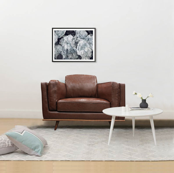 1 Seater Stylish Leatherette Brown York Sofa