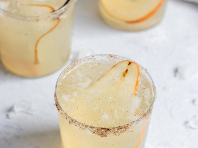 Pear and Vanilla Gin Fizz Cocktail