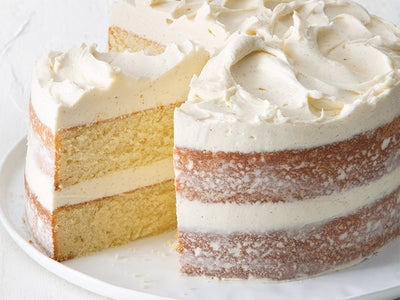 Vanilla Layer Cake with Creamy Vanilla Frosting