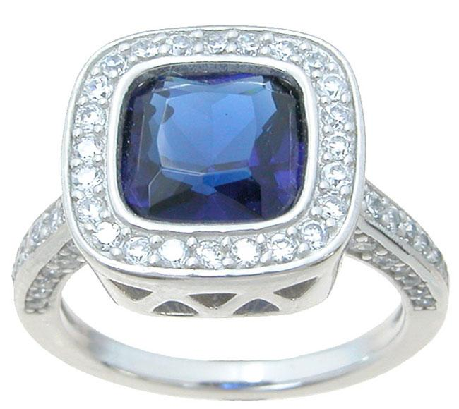 Have You Considered a Simulated Sapphire Gemstone with a Sterling Silver Ring