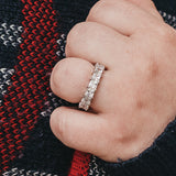 925 Sterling Silver Eternity Ring - Stackable Ring - 1.25 ct