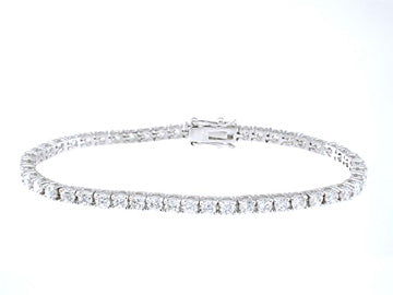 925 sterling silver platinum finish brilliant tennis bracelet 4 ct