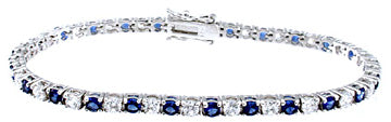 925 sterling silver platinum finish brilliant tennis bracelet cubic zirconium 4 ct
