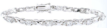 925 sterling silver platinum finish fashion bracelet 3 5 ct