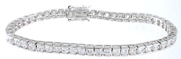925 sterling silver platinum finish brilliant fashion tennis bracelet