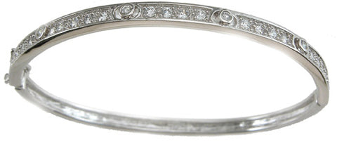 925 sterling silver rhodium finish fashion bangle