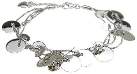 925 sterling silver rhodium finish fashion bracelet