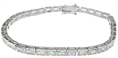 925 sterling silver rhodium finish fashion tennis bracelet