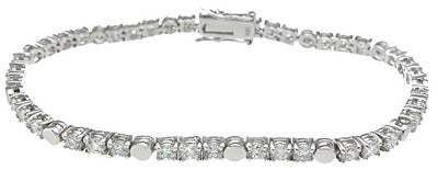 925 sterling silver rhodium finish cz fashion tennis bracelet 1 5 ct