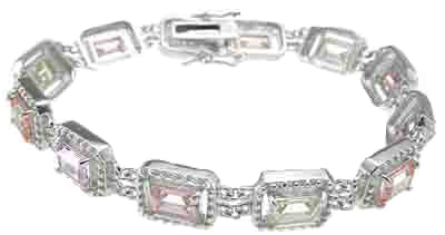 925 sterling silver rhodium finish cocktail bracelet