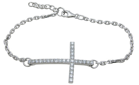 925 sterling silver cross bracelet