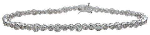 925 sterling silver tiffany style bracelet 4 5 ct