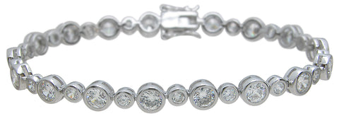 925 sterling silver tiffany style bracelet 14 5 ct
