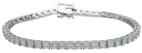 925 sterling silver princess cut bracelet