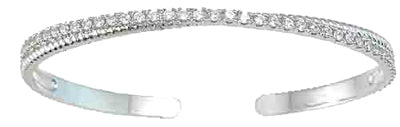 925 sterling silver rhodium finish cz cuff fashion bangle