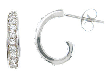 925 sterling silver platinum fashion earrings 1 ct