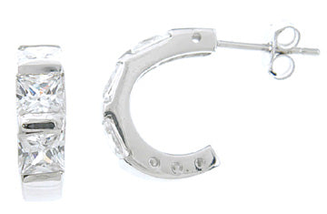 925 sterling silver platinum finish earrings 1 5 ct