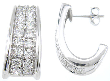 925 sterling silver platinum finish fashion pave earrings 1 5 ct