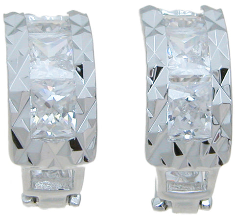 925 sterling silver fashion earrings 2 ct