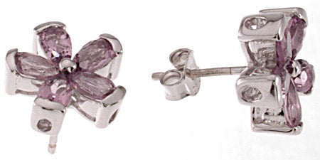 925 sterling silver platinum finish earrings 2 ct