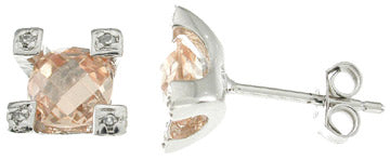 925 sterling silver platinum finish stud earrings