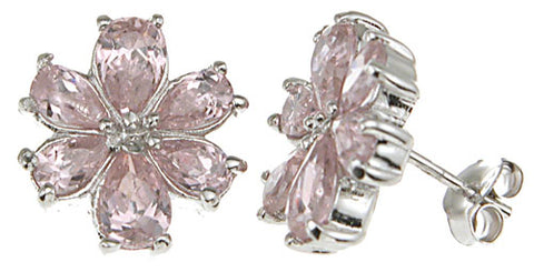 925 sterling silver fashion prong earrings 1 5 ct