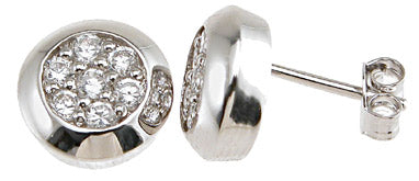 925 sterling silver rhodium finish cz brilliant stud earrings
