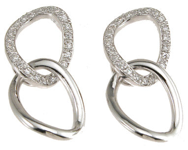 925 sterling silver fashion earrings 3 4 ct