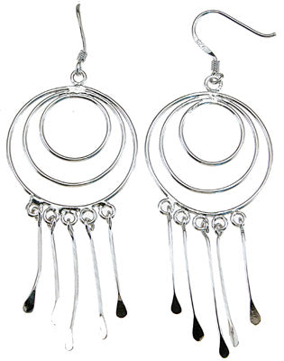 925 sterling silver rhodium finish fashion earrings lever back