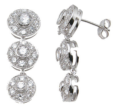 925 sterling silver brilliant fashion earrings
