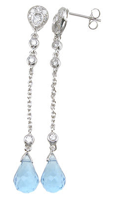925 sterling silver rhodium finish marquise tiffany style bezel earrings
