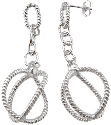 925 sterling silver rhodium finish earrings