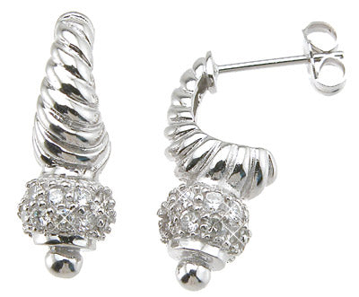 925 sterling silver fashion pave earrings 1 2 ct