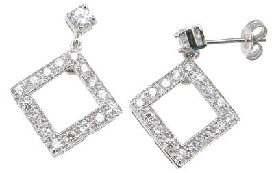 925 sterling silver brilliant cutfashion earrings 1 2 ct