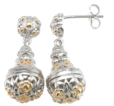 925 sterling silver rhodium finish antique style earrings