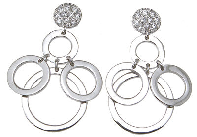 925 sterling silver brilliant cut fashion earrings 1 4 ct