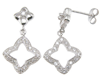 925 sterling silver fashion earrings 1 ct