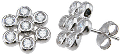 925 sterling silver stud earrings 1 2 ct
