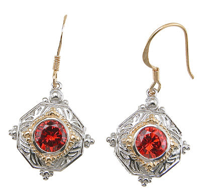 925 sterling silver rhodium finish antique style earrings 2 ct