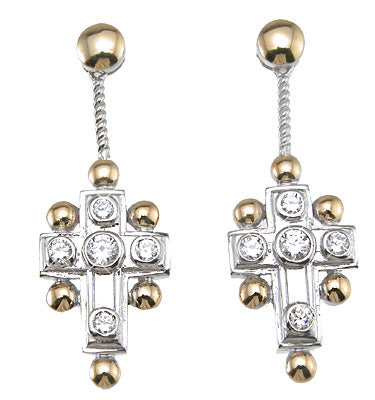 925 sterling silver antique style earrings 3 4 ct