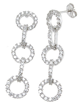 925 sterling silver tiffany style earrings 1 ct