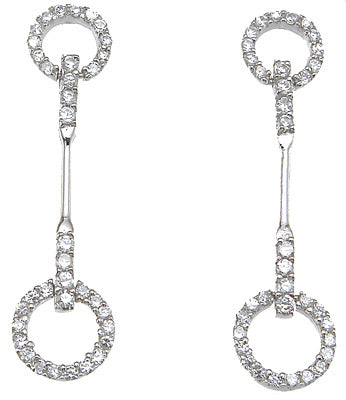 925 sterling silver tiffany style pave earrings 1 2 ct