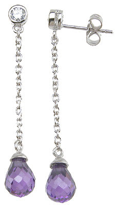 925 sterling silver fashion bezel earrings 1 5 ct